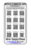 Classroom Device Parking Lot with QR Codes