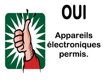 Classroom Device Use Posters - French