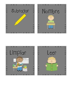 Classroom Direction Cards (English and Spanish)