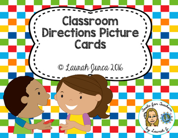 Classroom Directions Picture Cards