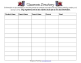 Classroom Directory Signup