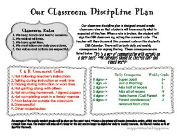 Classroom Discipline Plan Worksheets & Teaching Resources   TpT