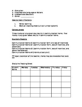 Classroom Discipline Policy