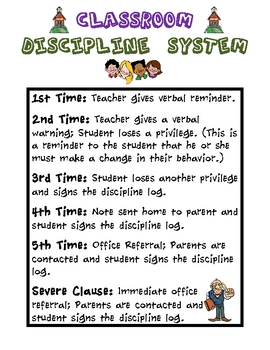 Classroom Discipline System (Poster)