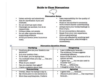 Classroom Discussion Guide