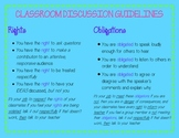 Classroom Discussion Guidelines, Rights and Obligations