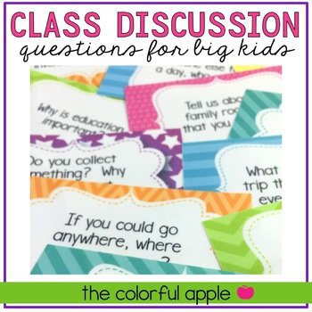Classroom Discussion Questions