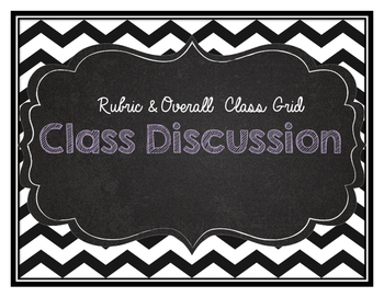 Classroom Discussion Rubric and overall class grid