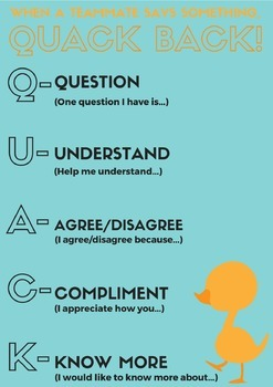 Classroom Discussion Sentence Starters