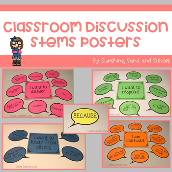 Classroom Discussion Stems Posters