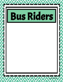 Classroom Dismissal Posters