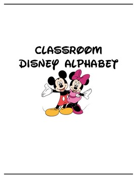 Classroom Disney Alphabet