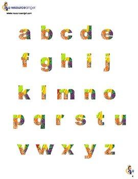 Display Alphabet - Fruity