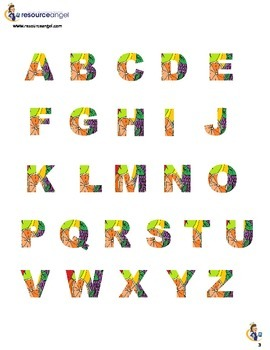 Display Alphabet - Fruity