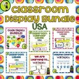 Classroom Decor BUNDLE Classroom Labels Signs WALTs Goals Display USA