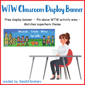 Classroom Display Banner for Words Their Way (Superhero)