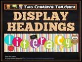 Display Banners Classroom