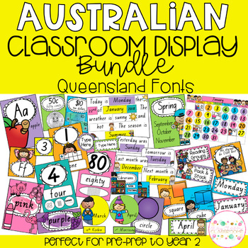 Australian Classroom Display Bundle - Queensland Font