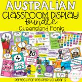 Australian Classroom Display Bundle - Queensland Font