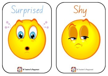 Classroom Display - Emotions and Feelings Flashcards