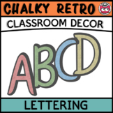 Classroom Display Letters - Chalky Retro