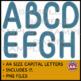Classroom Display Letters - Denim