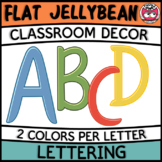 Classroom Display Letters - Flat Jellybean