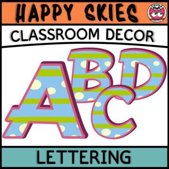 Classroom Display Letters - Happy Skies