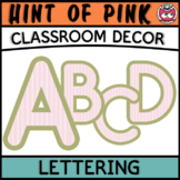 Classroom Display Letters - Hint of Pink