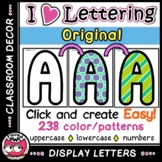 Classroom Display Letters - I Love Lettering