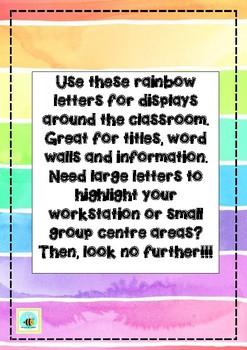 Classroom Display Letters RAINBOW