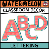 Classroom Display Letters - Watermelon