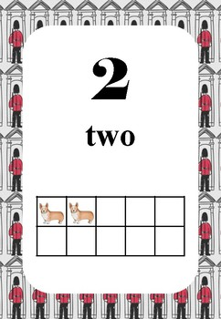 Classroom Display - London Theme - Numbers 0 - 20