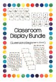 Classroom Display Poster Bundle - Queensland Beginners fon