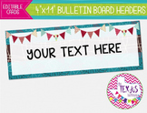 Bulletin Board Headers - Red, Blue and Brown {EDITABLE}