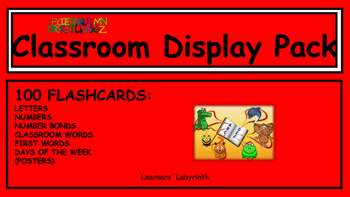 Classroom Display pack - 100 Cards to Copy