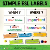 Classroom Display: question words / classroom English and