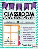 Classroom Documentation Forms {EDITABLE or Print & Use}