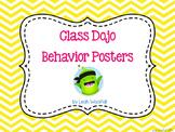 Class Dojo Behavior Posters (bright chevron)