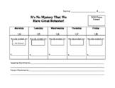 Classroom Dojo Behavior Sheet