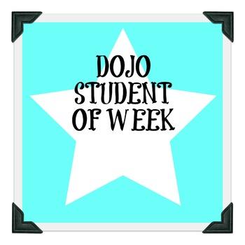 Classroom Dojo Student of the week