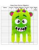 Classroom Dojo Weekly Point Tracker