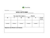 Classroom Dojo weekly behavior log