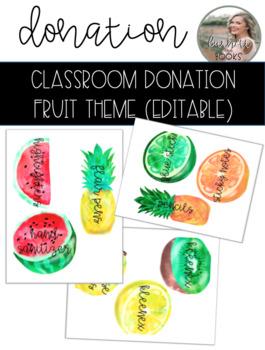 Classroom Donation Fruit Theme
