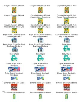 Classroom Donation Labels