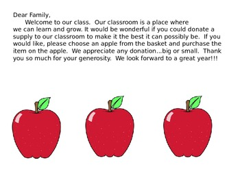Classroom Donation Letter