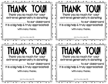 Classroom donation thank you notes by lauren gregory tpt classroom donation thank you notes altavistaventures Choice Image