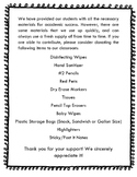 Classroom Donation Wish List