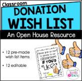 "Classroom Donation Wish List - Thumbs Up ""Like"""