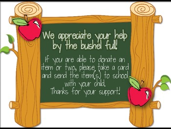 Classroom Donations Apple Theme {A Creative Way to Ask for Classroom Donations}